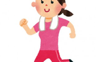 free-illustration-jogging-woman-irasutoya